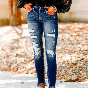 Kancan Destroyed Skinny Jeans